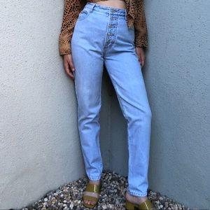 [vintage] BONGO exposed button light wash jeans
